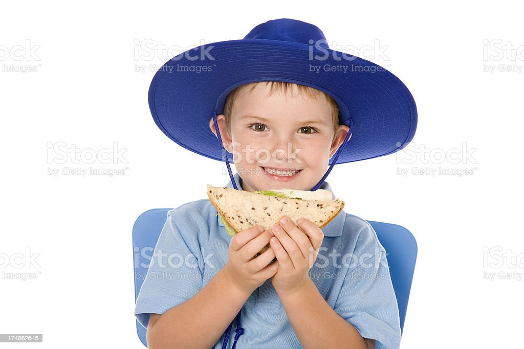 School Boy Lunch Time royalty-free stock photo