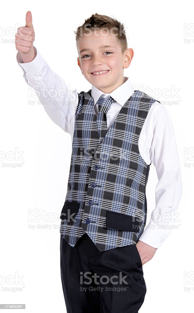 school boy with thumb up royalty-free stock photo
