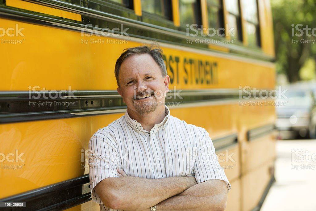 School Bus Driver royalty-free stock photo