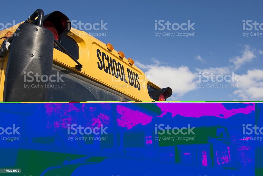 School bus going on a field trip royalty-free stock photo
