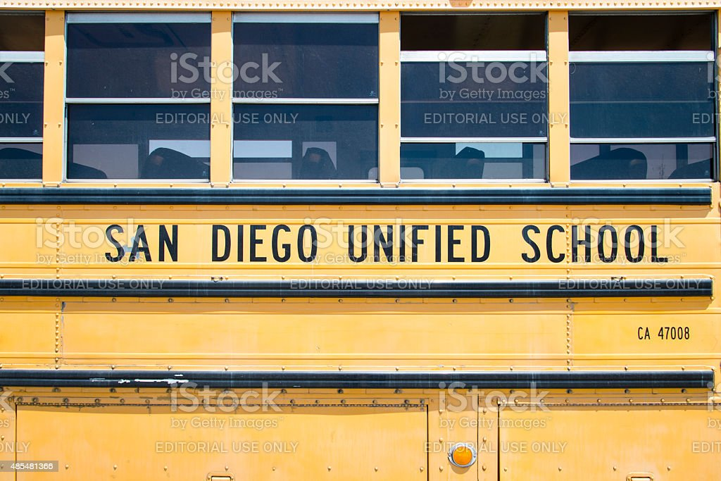 School Bus in San Diego stock photo