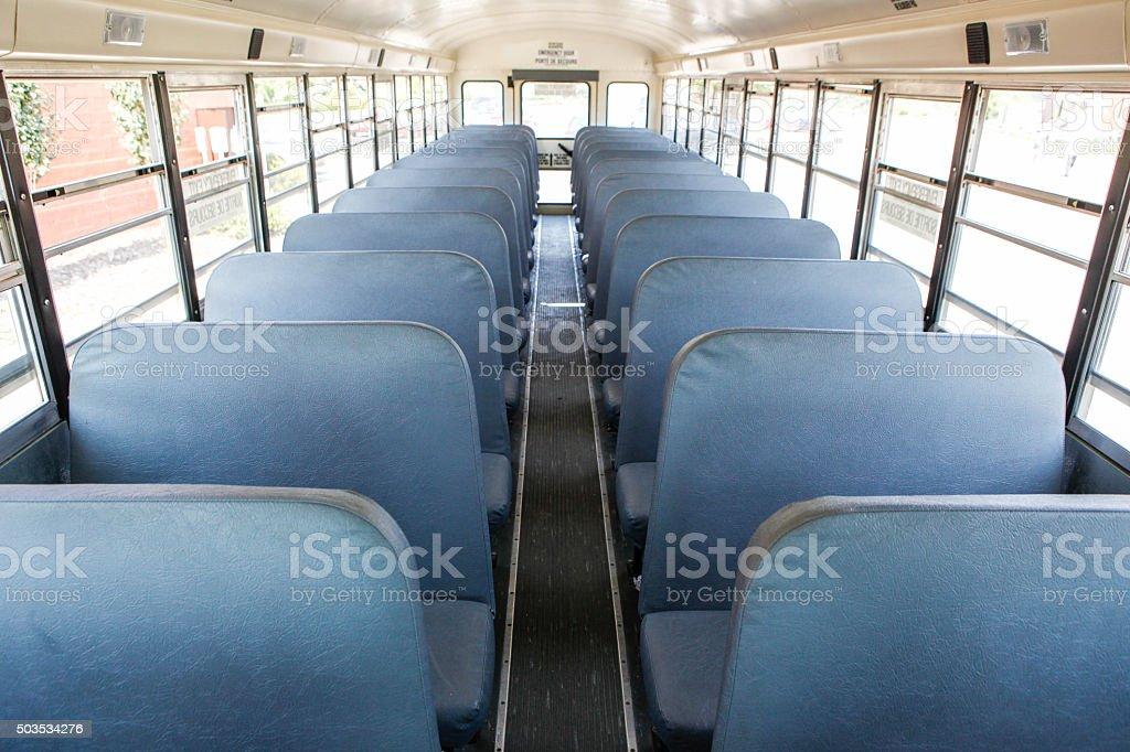 School Bus Interiors stock photo