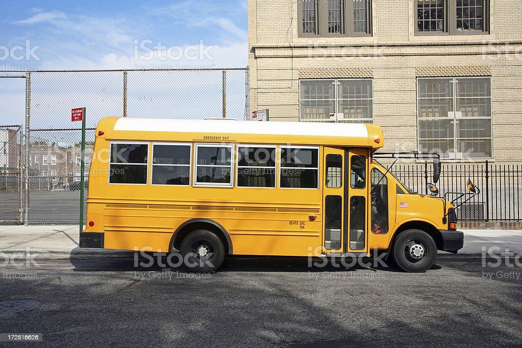 School Bus On A Street royalty-free stock photo