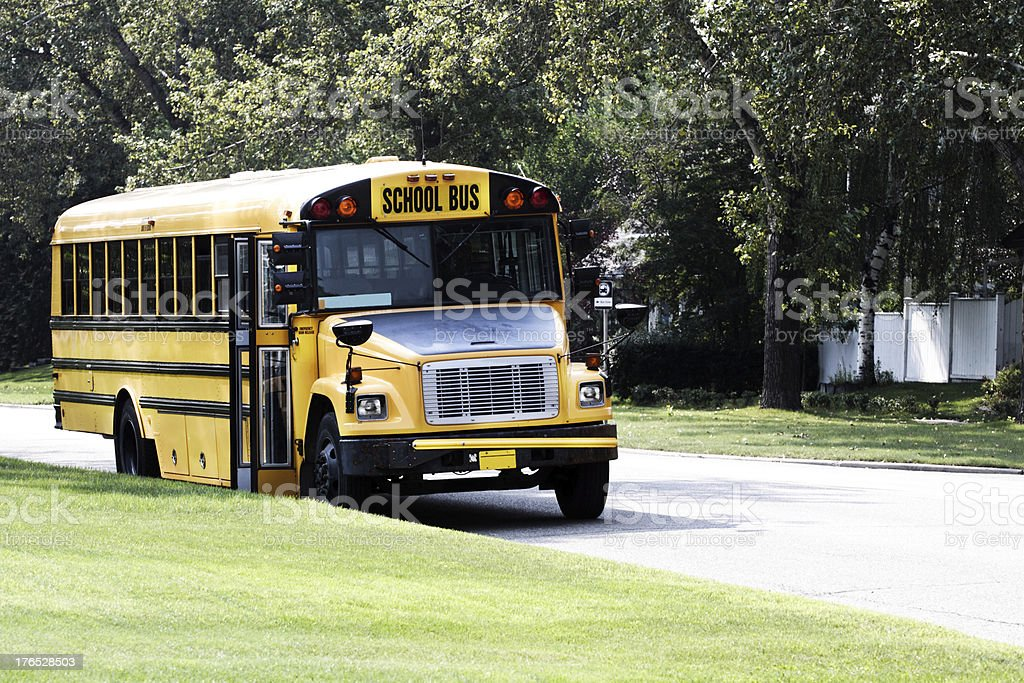 School Bus parked royalty-free stock photo