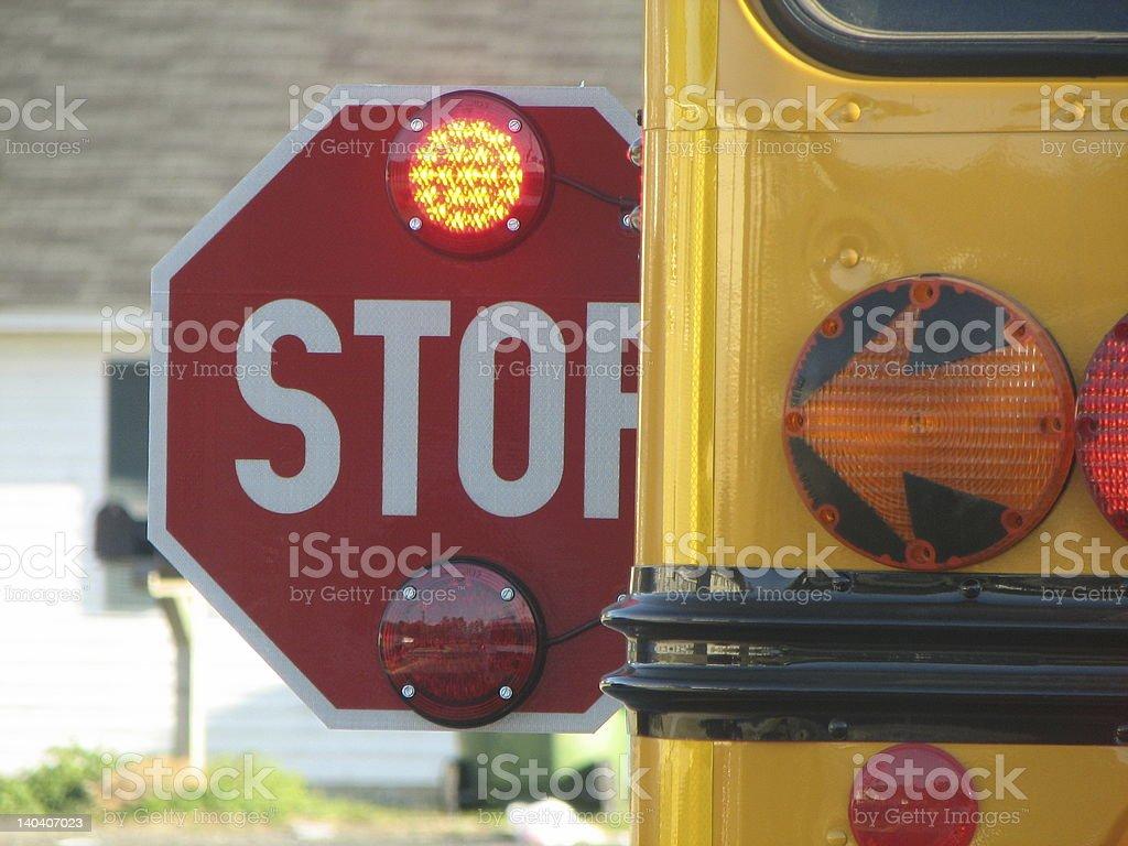 STOP! School Bus royalty-free stock photo
