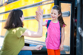 School Bus Series - Giving Mom a High Five