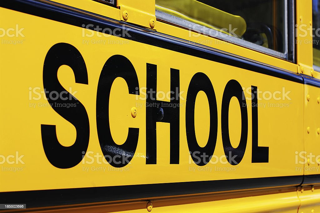 School Bus Side royalty-free stock photo