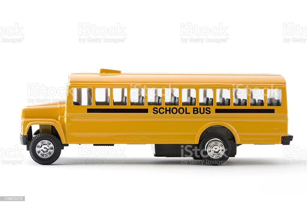 School Bus Side View on White stock photo