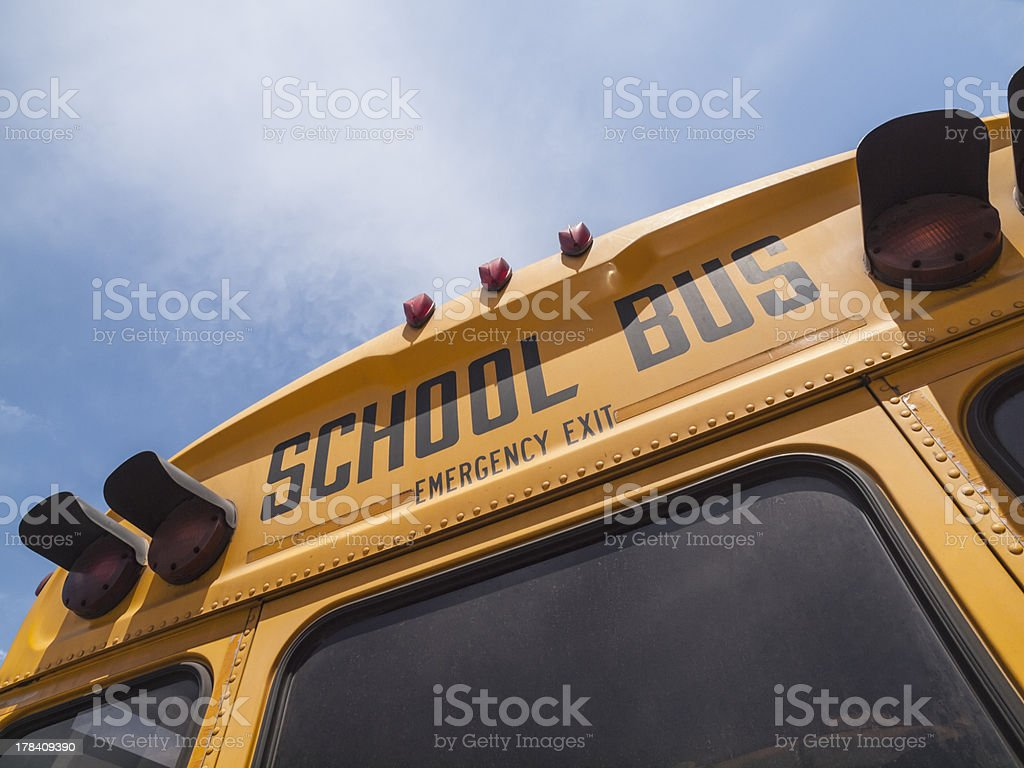 School Bus Sign Detail royalty-free stock photo