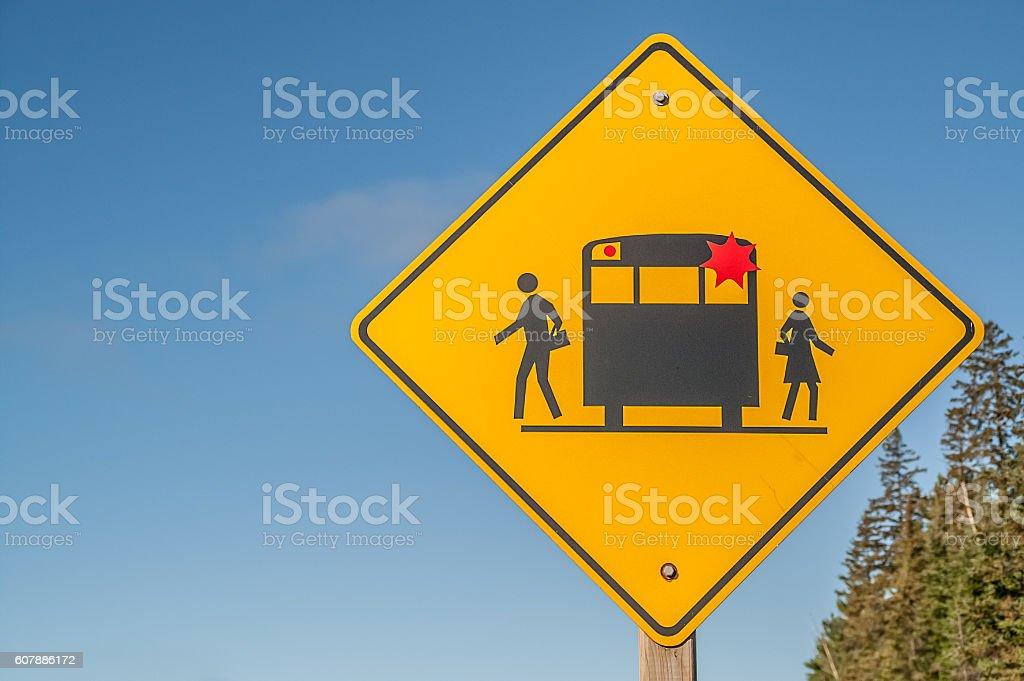 School Bus Sign stock photo