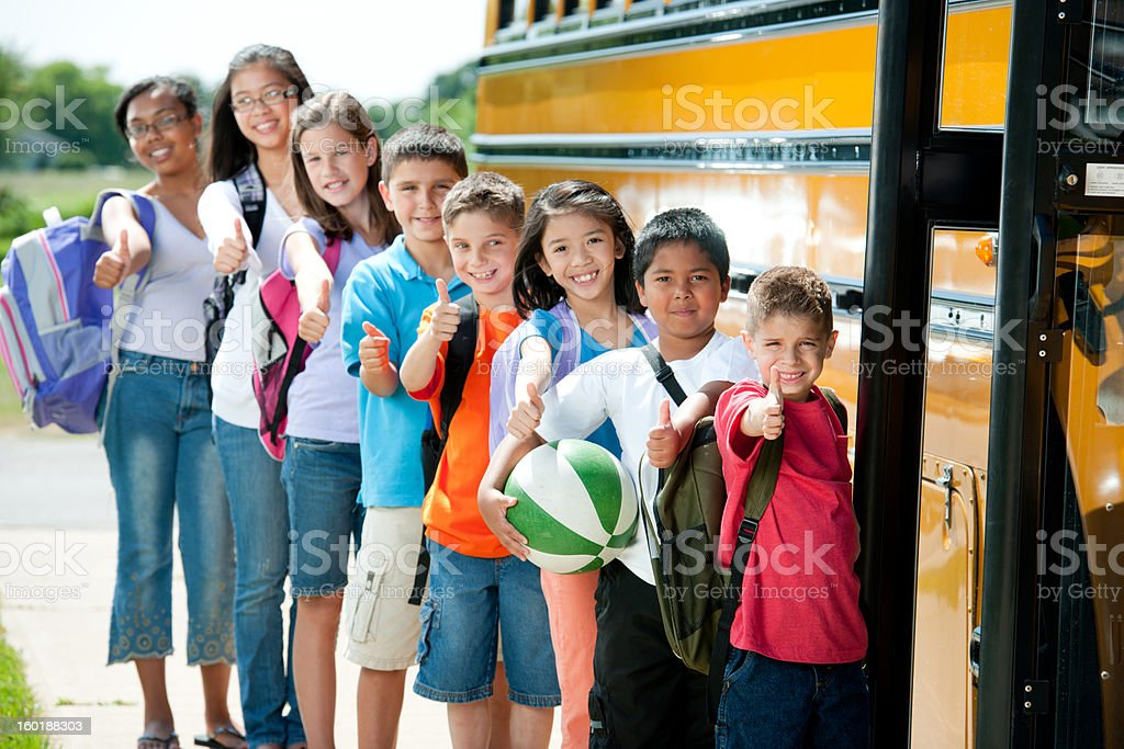 School bus stop royalty-free stock photo