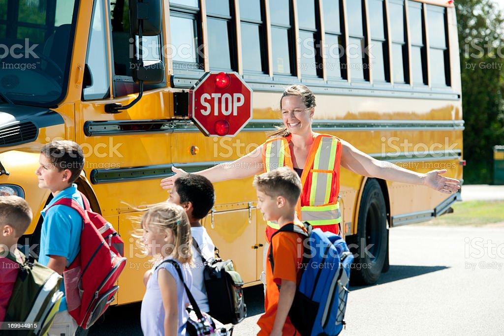 School bus stop royalty-free stock photo
