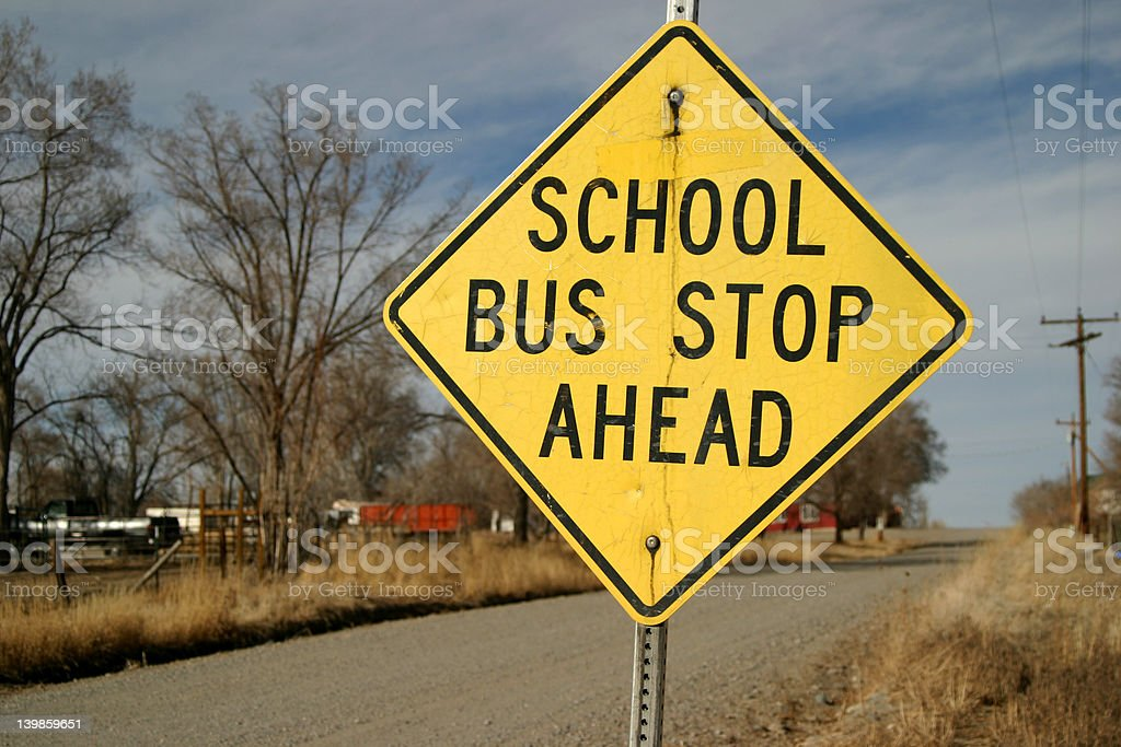 School Bus Stop Sign royalty-free stock photo