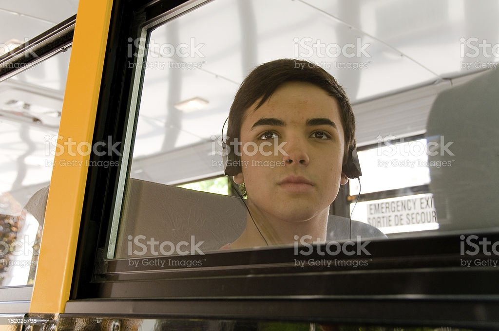 School bus Teen royalty-free stock photo