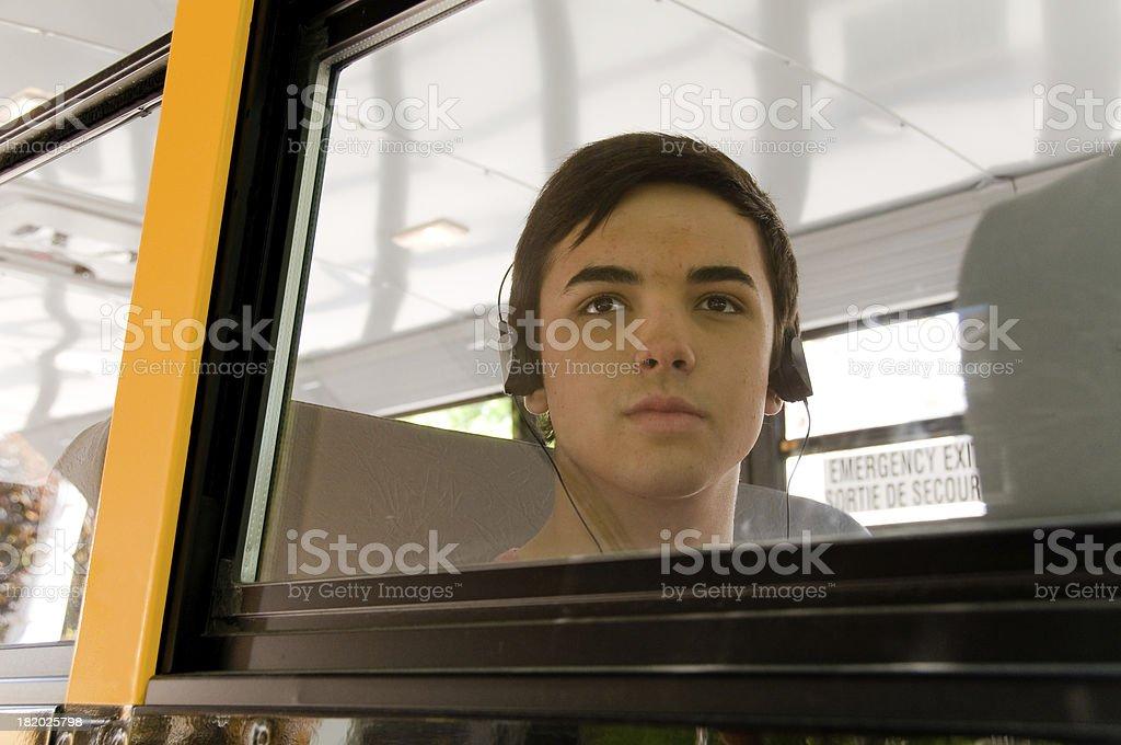 School bus Teen stock photo