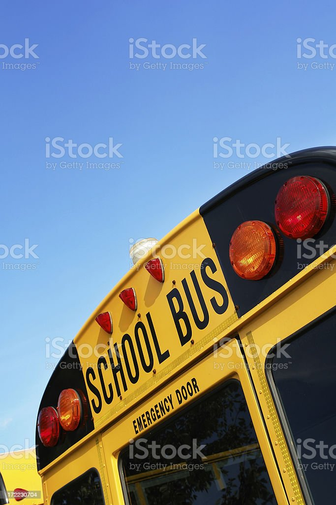 School bus with blue sky royalty-free stock photo