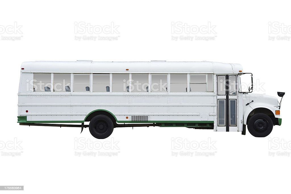 School bus with clipping path. stock photo