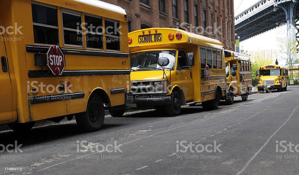 School Bus,NYC stock photo