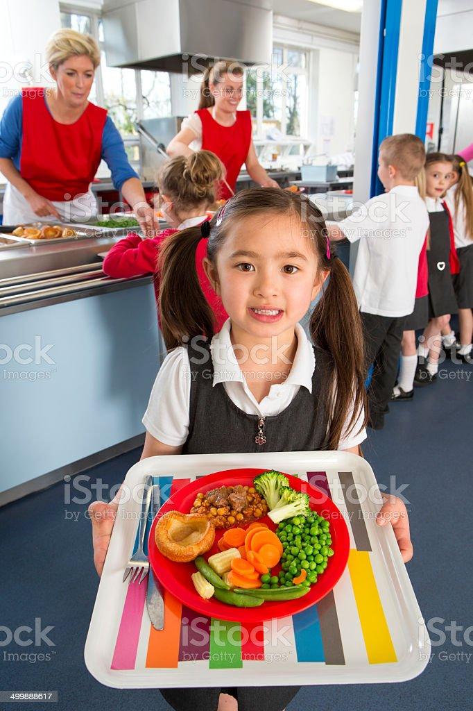 School Caferteria Line stock photo