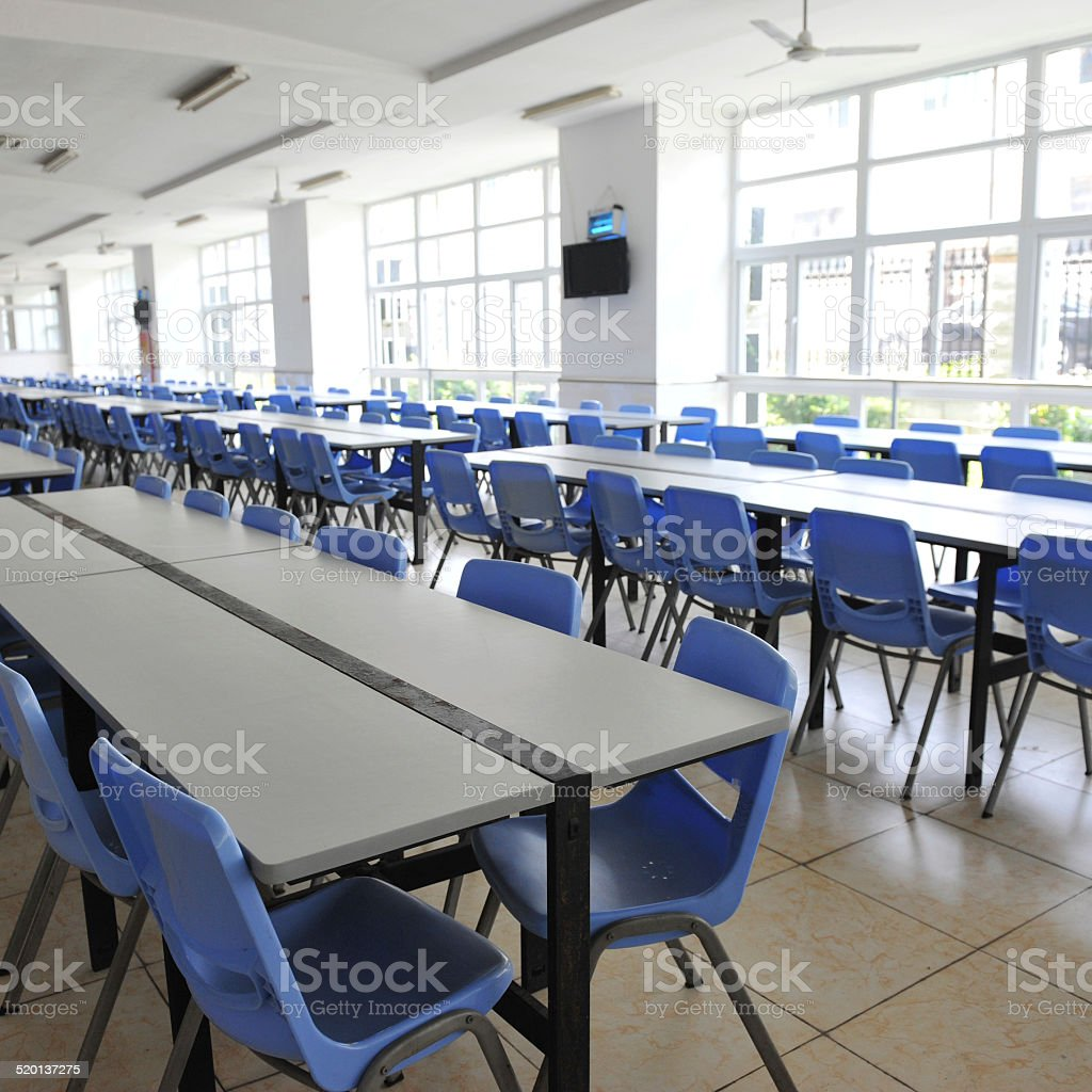 school cafeteria stock photo