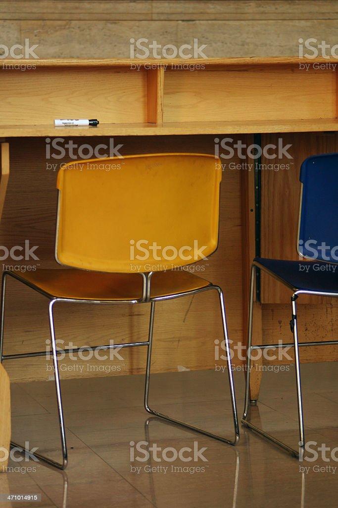 School Chairs stock photo