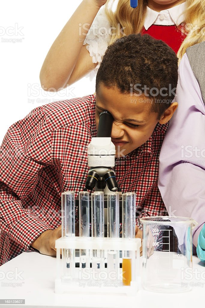 School chemistry research royalty-free stock photo