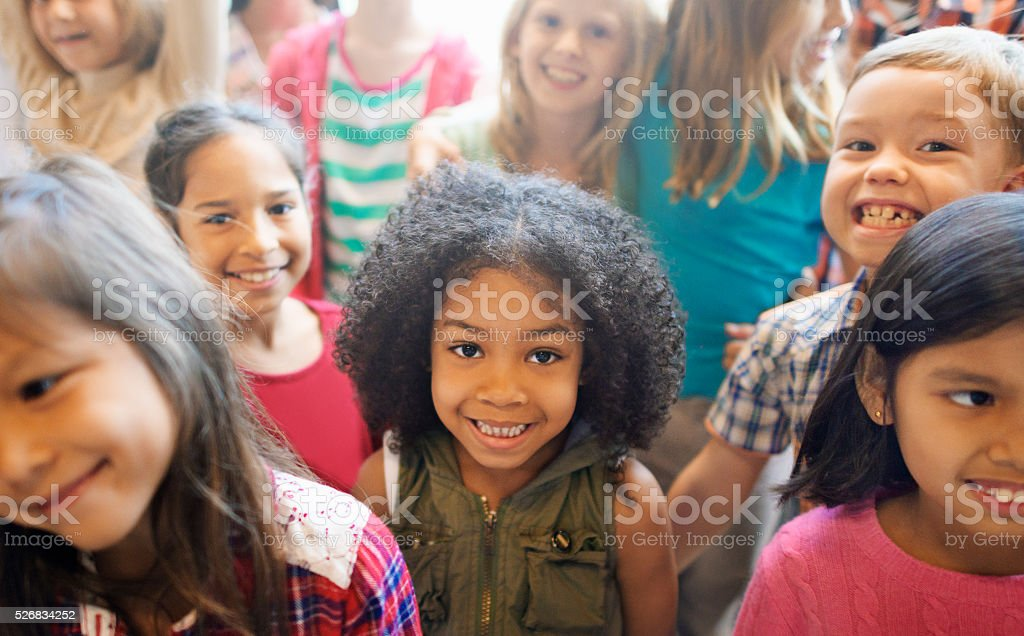 School Children Cheerful Variation Concept stock photo