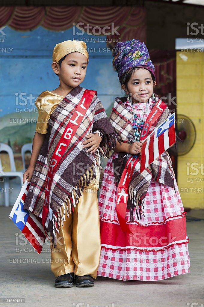 School Children in Costume royalty-free stock photo