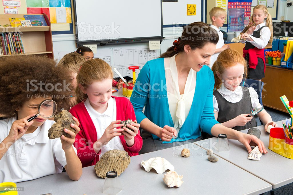 School Children in Science Lesson royalty-free stock photo