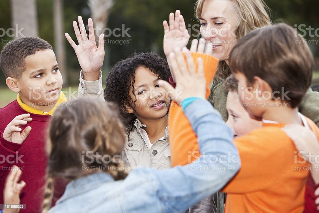 School children on field trip royalty-free stock photo