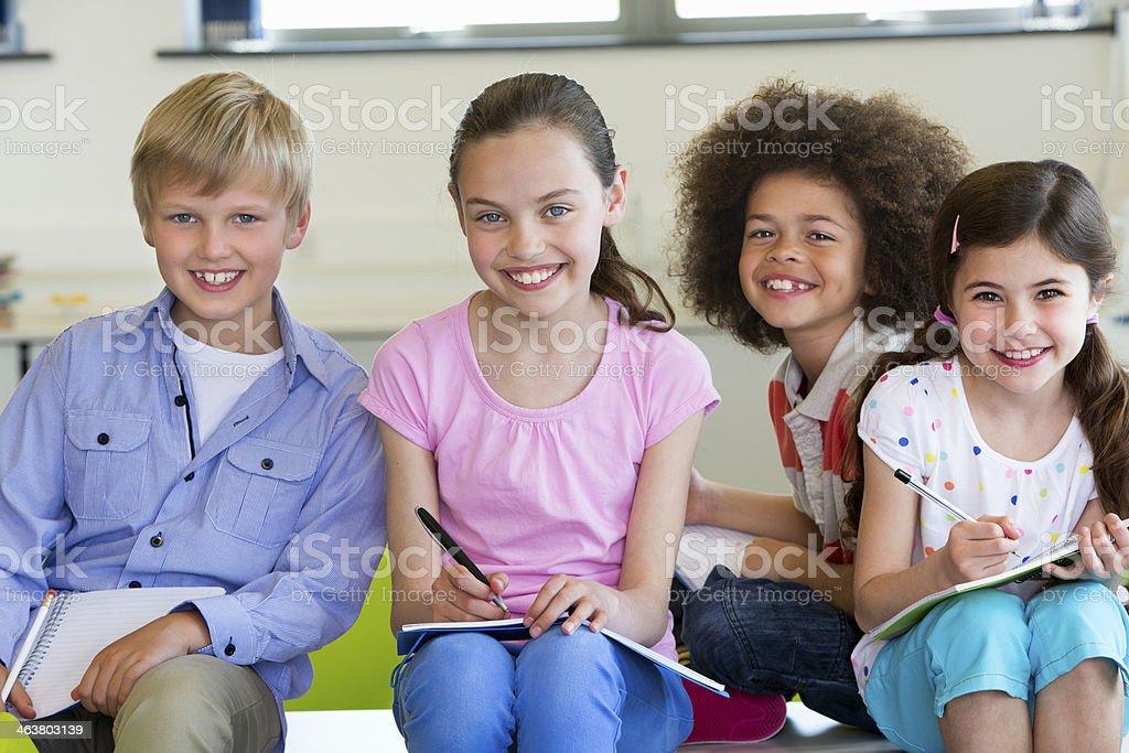School Children taking Notes royalty-free stock photo