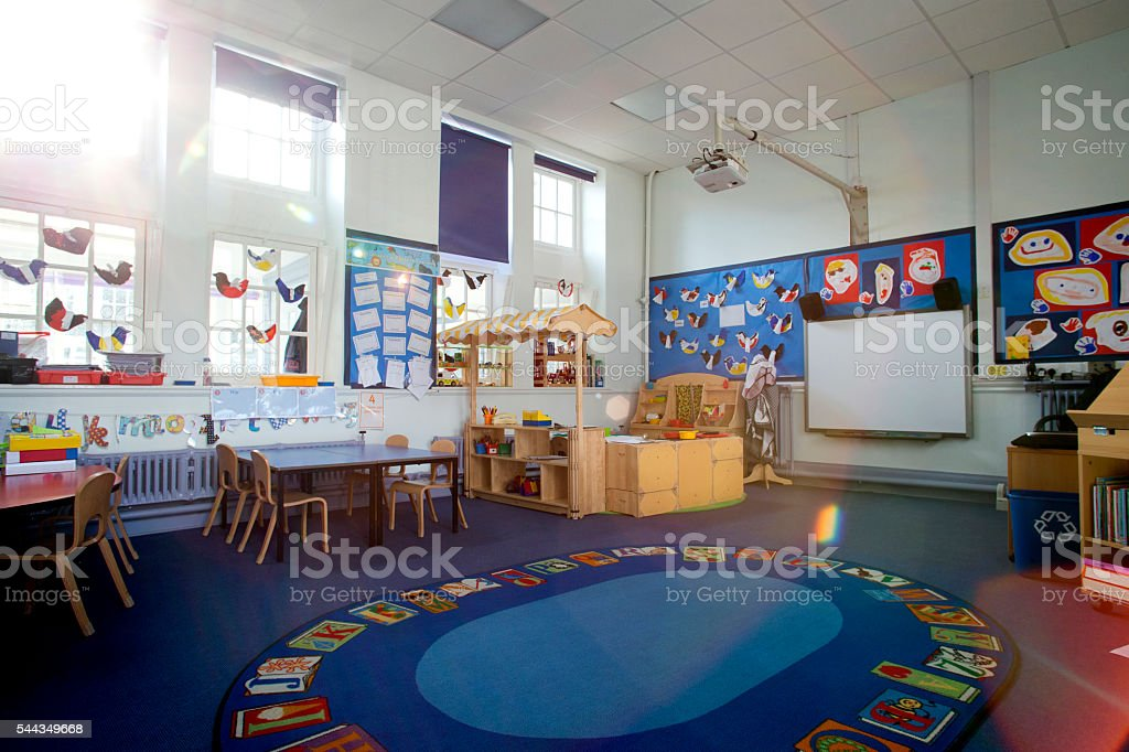 School Classroom Interior stock photo