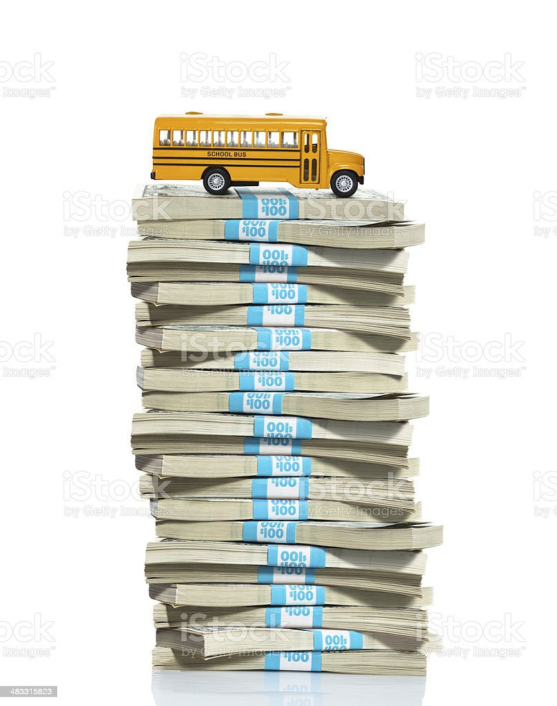 School costs and expenses royalty-free stock photo