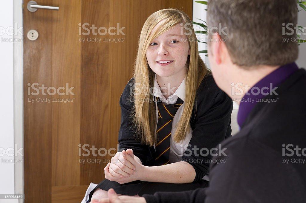 school counsellor stock photo