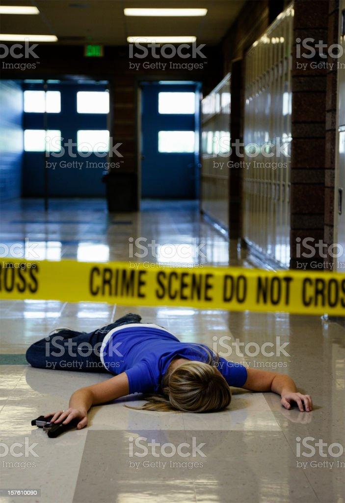 School Crime Scene stock photo