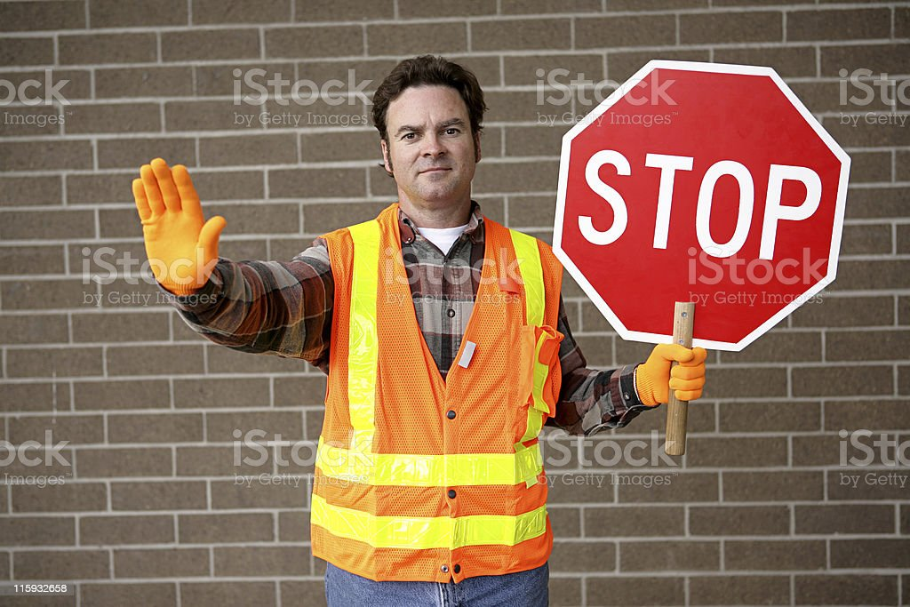 School Crossing Guard royalty-free stock photo