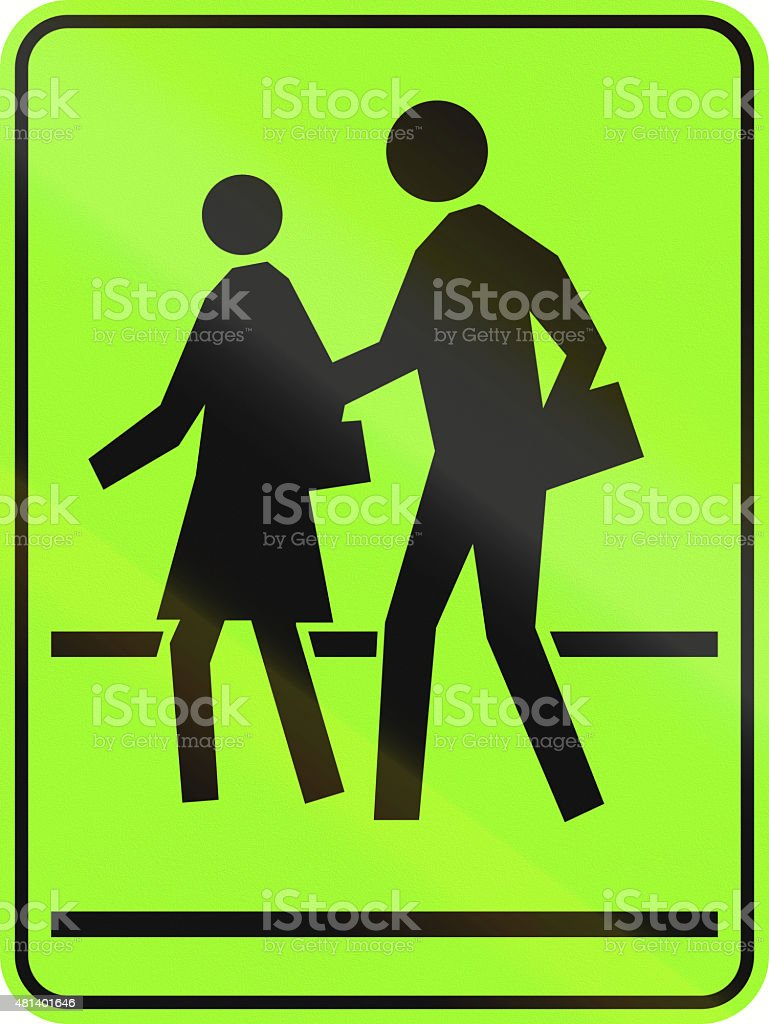 School Crossing in Canada stock photo