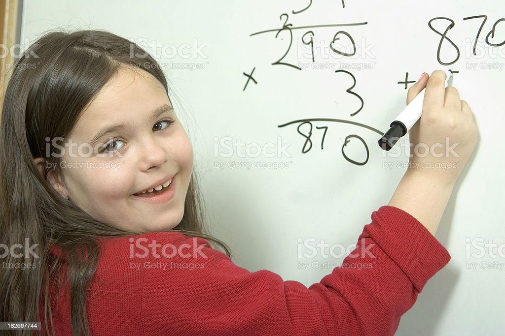 School Days - At the Whiteboard royalty-free stock photo