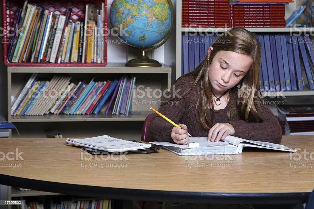 School Days - Working in the Classroom III royalty-free stock photo