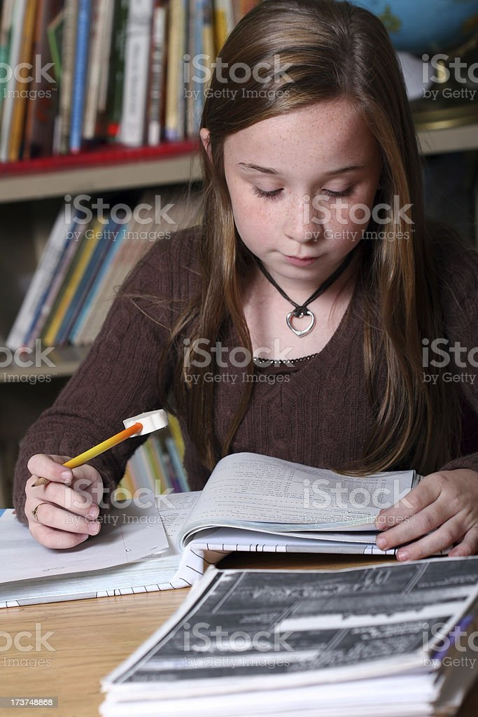School Days - Working in the Classroom royalty-free stock photo