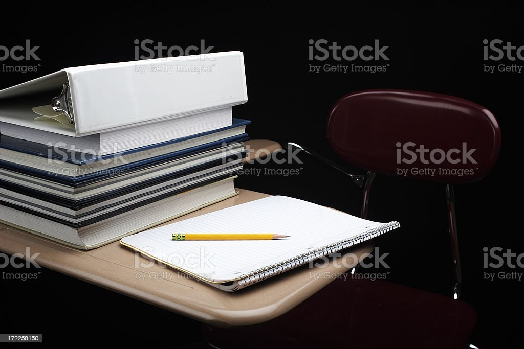 School Desk royalty-free stock photo