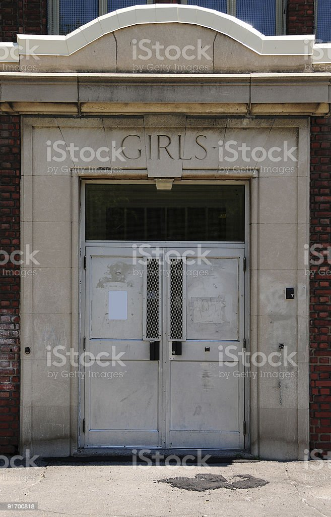 School entrance royalty-free stock photo