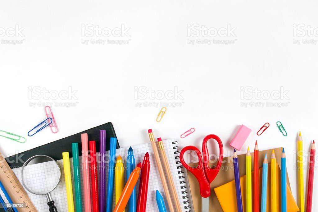 School Equipments and Accessories stock photo