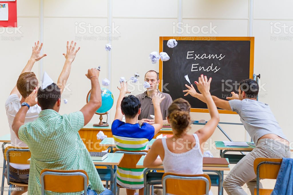 School Exams Ends stock photo