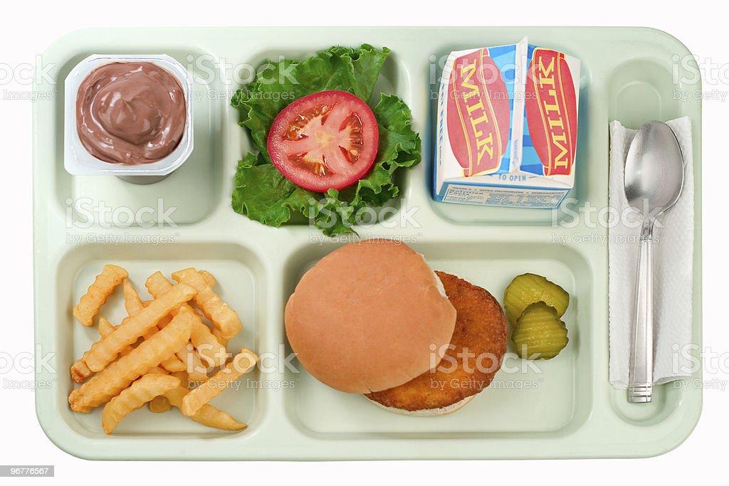 School Food - Chicken Burger royalty-free stock photo