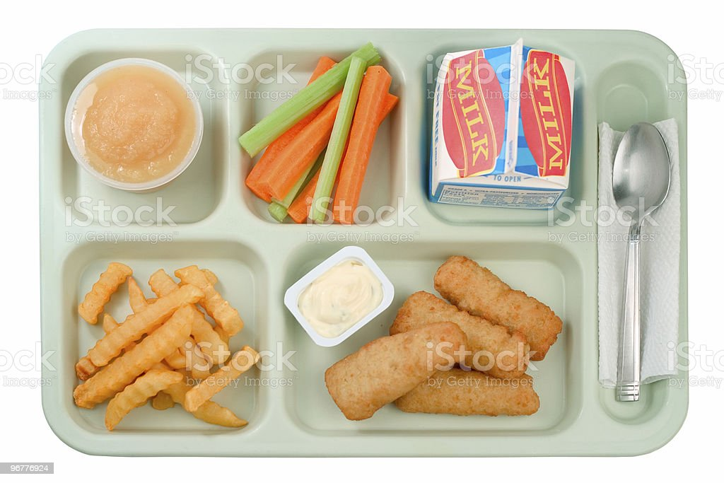 School Food - Fish Sticks stock photo