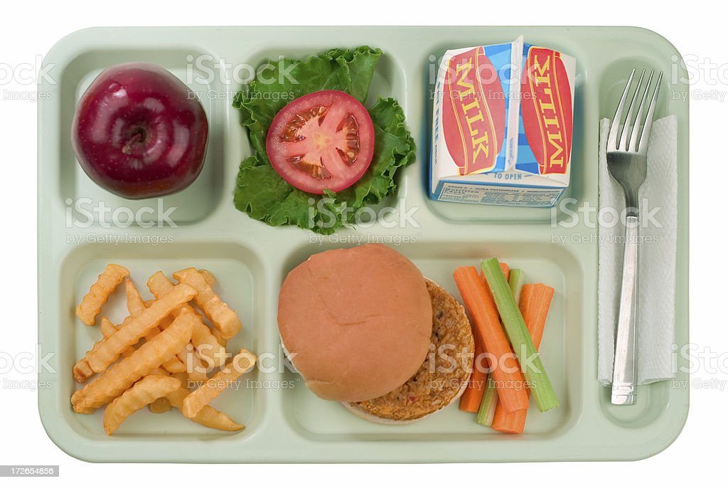 School Food - Veggie Burger royalty-free stock photo
