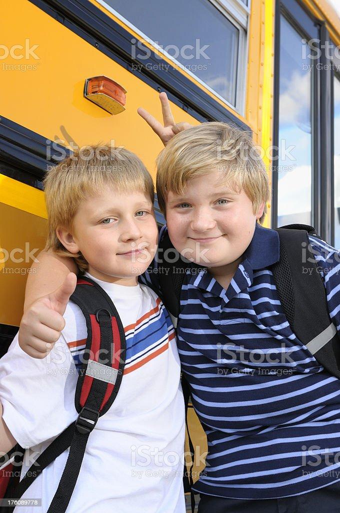 School friends stock photo