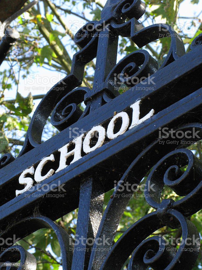 School Gate royalty-free stock photo