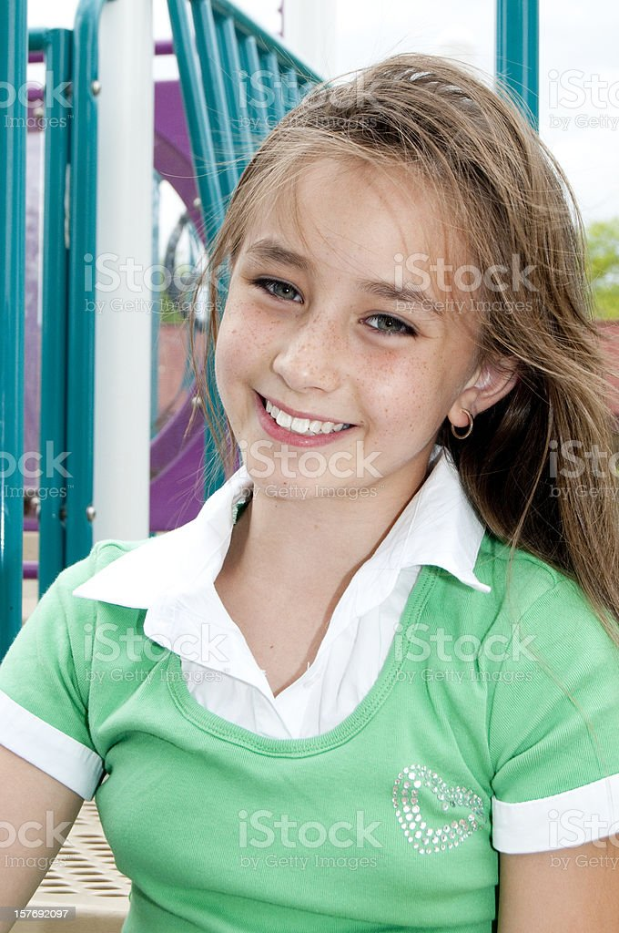 School Girl at the Playground royalty-free stock photo